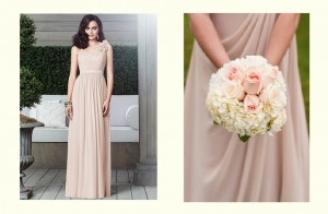 Blush bridesmaid