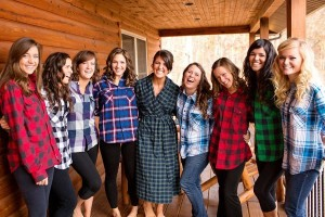 Flannel Bridal Party