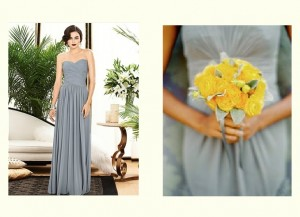 gray bridesmaid